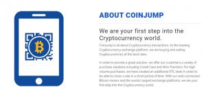 CoinJump crypto exchange